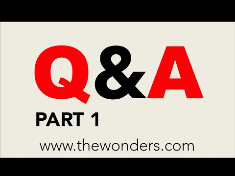 The Wonders Q&A: Part I