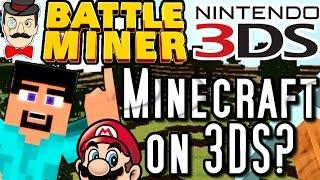 Nintendo 3DS MINECRAFT?! Battle Miner - Blocky Building&Battling on 3DS!