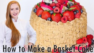 Basket Weave Cake Decorating Tutorial by Tatyana's Everyday Food
