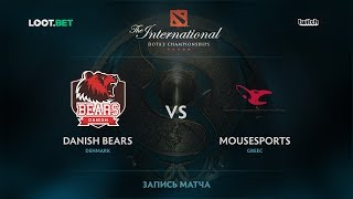 Danish Bears vs mousesports, The International 2017 EU Qualifier