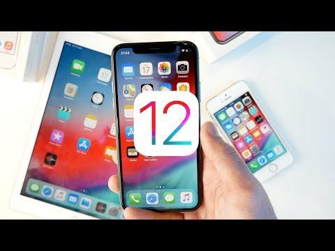 iOS 12 ВЫШЛА! Сравниваем до и после на iPhone 5S, iPhone X  и iPad 2018 онлайн видео