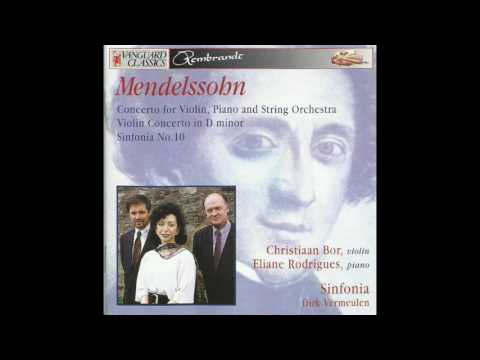 Mendelssohn Concerto In D Minor For Violin, Piano And String Orchestra (1823)