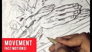 """Learn to draw fast action motion movement in MANGA and COMICS! Enjoy!BUY APPLE BLACK MANGA, VOLUME ONE:http://www.amazon.com/Apple-Black-Vol-Volume/dp/069235137XAPPLE BLACK OFFICIAL WEBSITE: http://www.saturday-am.com/appleblackREAD APPLE BLACK HERE FREE [ONLY FIRST 4 CHAPTERS]: http://www.saturday-am.com/apple-black-chapter-1http://www.saturday-am.com/apple-black-chapter-2http://www.saturday-am.com/apple-black-chapter-3http://www.saturday-am.com/apple-black-chapter-4INSTAGRAM:  http://www.instagram.com/WhytMangaFACEBOOK:    http://www.facebook.com/WhytMangaTWITTER:        http://www.twitter.com/WhytMangaDEVIANTART: http://www.odunze.deviantart.comUse coupon code """"ANIME"""" to get Akibento!, a monthly subscription box, full of t-shirt, figures, snack and goodies related to Japanese anime and manga. GET IT HERE: http://bit.ly/2pG9Tr1SUBSCRIBE TO THE SATURDAY-AM MAGAZINE, $5/YEAR! https://gumroad.com/a/912077939MY MANGA TOOLS:Deleter G-pen, Deleter Type A B4 Comic book Paper, Deleter type 6 ink, Manga Studio 5, Clip Studio Paint, Photoshop, SAI, Mechanical Pencils, Erasers, Curves, Rulers, Brushes, Water Color, Copic Markers Ciao 72 B, Copic Marker Sketch 72 A, Skin Tone Copic Markers, White pigment Signo pen, Pentel Brush Pen, Copic Refills, Mustek A3 Pro 1200 USB Scanner, Pen Tablets, Screentones and Pizza.This Channel is about my journey to become a professional comic/manga artist. I will document all the goods and the bads showing my process in making my main dream manga  comic """"Apple Black"""" serialized on Saturday-AM. NEW VIDEOS every Saturday! [mornings].TAGS: Shonen, Jump, Saturday-AM, magazine, Naruto, Boruto, Dragon Ball, Z, One punch man, attack on titan, my hero academia, boku, no hero, clover, views, subscribers, techniques, instagram, paint, hands, hacks, jackobyGet 10% OFF Anime, Geek and Gamer etc gear and purchases on Lootcrate by visiting http://www.lootcrate.com/whytmanga using the promo code:whytmanga"""