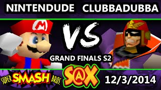 S@X – clubbadubba (Falcon) Vs. Apex | Nintendude (Mario) Grand Finals Set 2