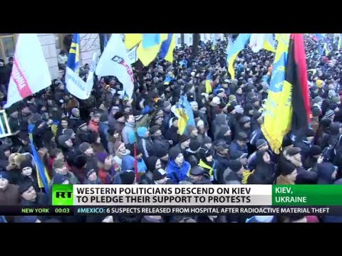 Ukraine - Ukraine's opposition is calling for a million people to join anti-government protests in Kiev on Sunday - for a rally that's feared to further heighten tensi...