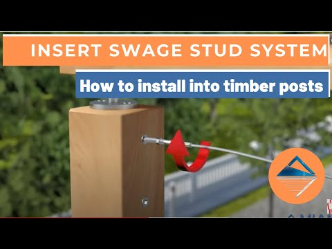 How To Install Wire Balustrade - Insert Swage Stud System