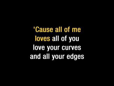 "John Legend   ""All Of Me"" Karaoke"