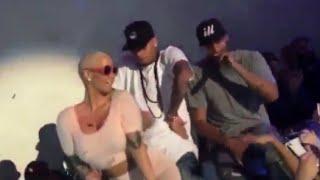 Amber Rose Twerking On Chris Brown At Supper Club LA