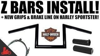 5. HOW TO: Install Z Bars on Harley-Davidson Sportster