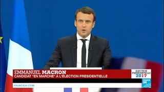 Video REPLAY - Discours d'Emmanuel Macron en tête du 1er tour de la Présidentielle 2017 en France MP3, 3GP, MP4, WEBM, AVI, FLV Mei 2017