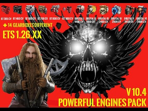 Pack Powerful engines + gearboxes v10.4 for 1.26.x