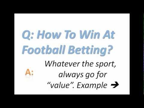 How To Win At Football Betting?