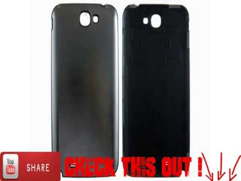 Brushed Housing Back Battery Cover for Samsung Galaxy Note 2 N7100 Bla