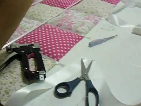 como fazer uma cabeceira de cama estofada