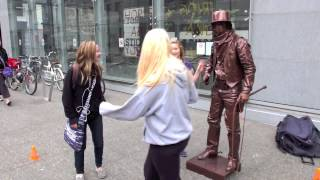 Video Living Statue The Bronze Cowboy MP3, 3GP, MP4, WEBM, AVI, FLV November 2017