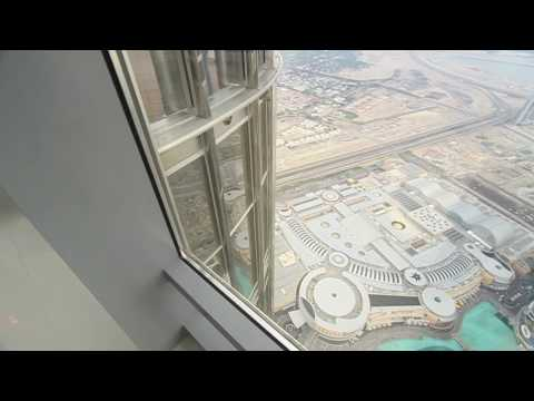 observation deck - We were the first member of the public to get up the Burj Dubei, erm, Khalifa. Here's it what it's like to walk around the observation deck. My hand is very ...