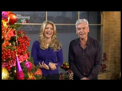 This Morning - Holly laughs at Phil's dancing and makes a funny noise 16th December ...