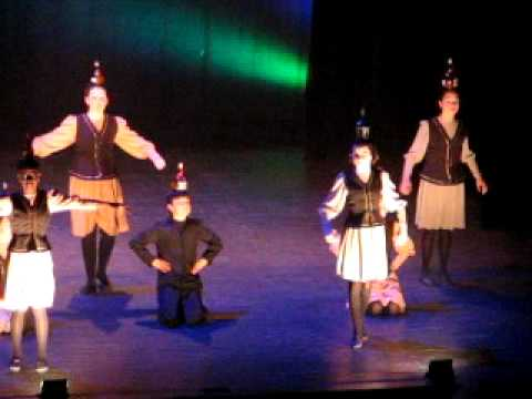 Jewish folklore - Thea dancing at the annual show cole de danse les Farandoles Teacher: Louis Wauthier.