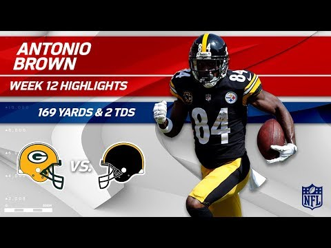 Video: Antonio Brown Does it Again w/ 169 Yds & 2 TDs!   Packers vs. Steelers   Wk 12 Player Highlights