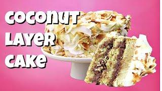 Coconut Layer Cake Recipe || Gretchen's Vegan Bakery by Gretchen's Bakery