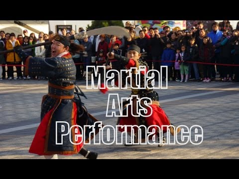 Korean Martial Arts Performance near Seoul Tower