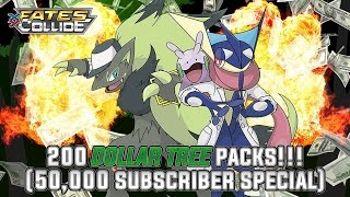 Pokémon Cards - Opening 200 Fates Collide Dollar Tree Packs! | 50,000 YouTube Subscriber Celebratio by The Pokémon Evolutionaries