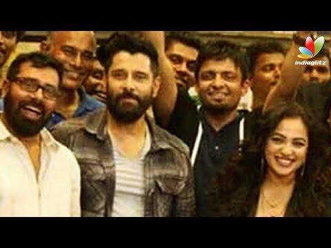 Nithya-Menon-celebrates-her-birthday-with-Irumugan-team-Vikram-Hot-Tamil-Cinema-News