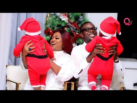 Funke Akindele and husband celebrate first Christmas with twins