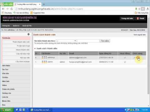 Hướng dẫn thay đổi mật khẩu tài khoản quản trị website