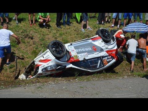 Rally Rzeszów 2017 CRASH wypadek Maj/Jasiński Fiesta Proto