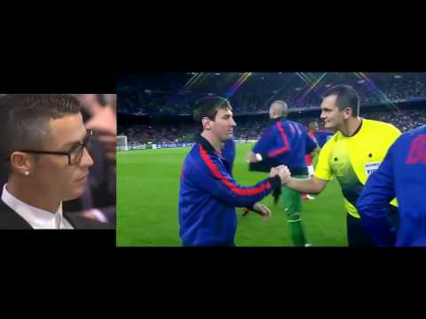 Cristiano Ronaldo Reacts to Messi Goals and Skills - Not Impressed