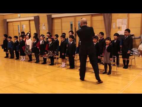 砂川市立ひまわり保育園卒園式 卒園児によるお別れの歌