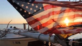 Sebastian (FL) United States  city images : American Flag in Sunset- Abourd Lil' Eva's Images, Inlet Marina, Sebastian FL