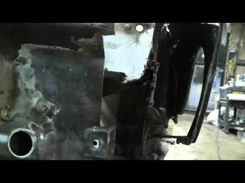 1973 Porsche 914   L Front panel repair Part 1
