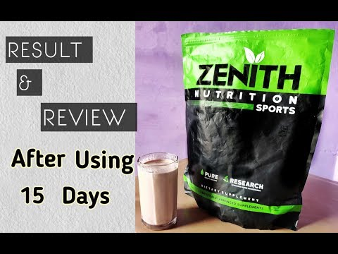 Zenith whey protein result after 15 days || dhiraj home workout