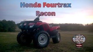 1. HONDA FOURTRAX RECON REVIEW AND TRAIL RIDE
