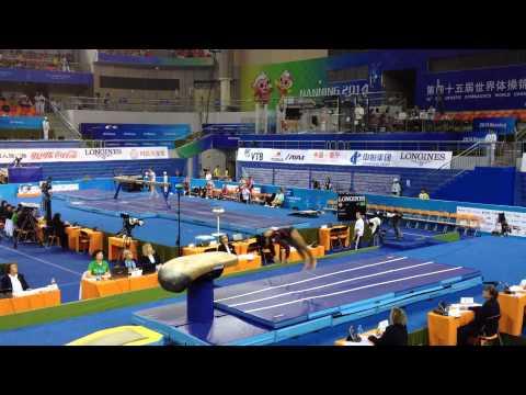 Rowan Hazem EGY - Vault - 2014 World Gymnastics Championships (видео)