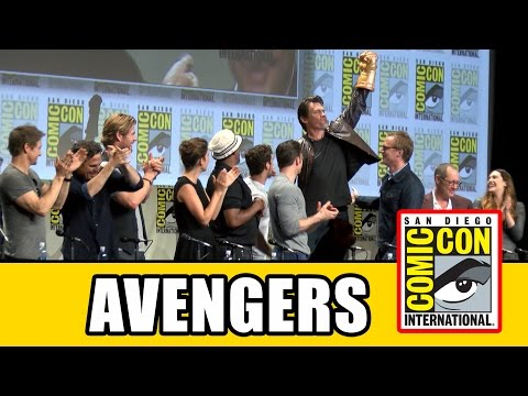 comic con - Marvel Avengers: Age of Ultron San Diego Comic Con panel with Robert Downey Jr., Jeremy Renner, Mark Ruffalo, Chris Hemsworth, Cobie Smulders, Samuel L. Jack...