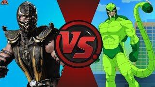 Scorpion (Mortal Kombat) vs Scorpion (Marvel)! Cartoon Fight Night Episode 14!