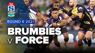 Brumbies v Western Force Rd.6 2021 Super rugby AU video highlights