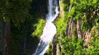 北海道観光映像(銀河の滝《層雲峡》)