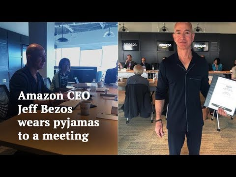 Here's why Amazon CEO Jeff Bezos wore pyjamas to board meeting