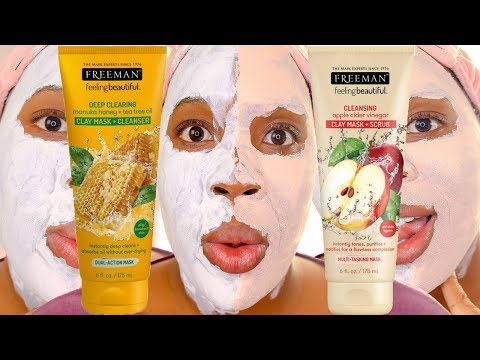Freeman Manuka Honey + Tea Tree Oil Clay Mask vs. Freeman Apple Cider Vinegar Clay Mask