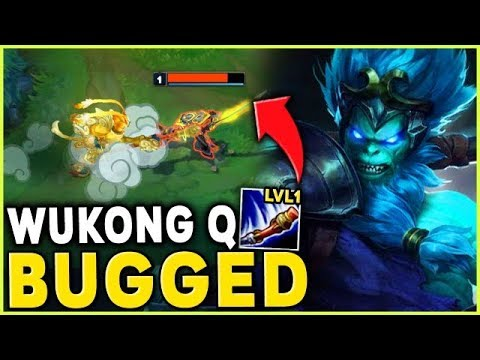 WUKONG Q BUGGED! ONE SHOT AT LEVEL 1 WTF RIOT?! (NOT CLICKBAIT) - League of Legends