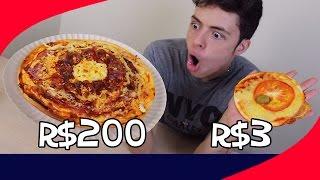 Video PIZZA DE R$ 200 vs PIZZA DE R$ 3 MP3, 3GP, MP4, WEBM, AVI, FLV Mei 2018