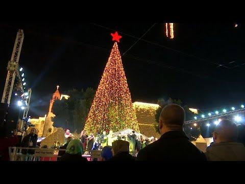 Weihnachten in Bethlehem, wo Jesus Christus der Überlieferung nach geboren wurde
