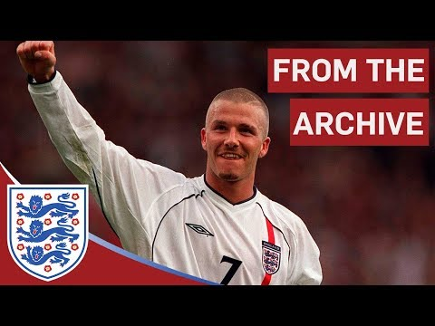 kick - A classic moment when England captain David Beckham scores with a sensational 30-yard free kick, three minutes into injury-time. Because Germany only drew wi...