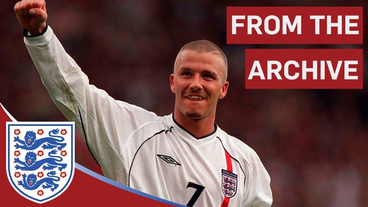 David Beckham's free kick against Greece