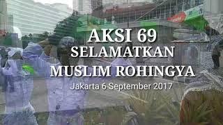 Aksi 69 Bela Muslim Rohingya