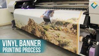 Vinyl Banner printing process With Mimaki inkjet Printer